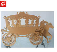 simulation Wooden pumpkin carriage home decoration DIY crafts gifts