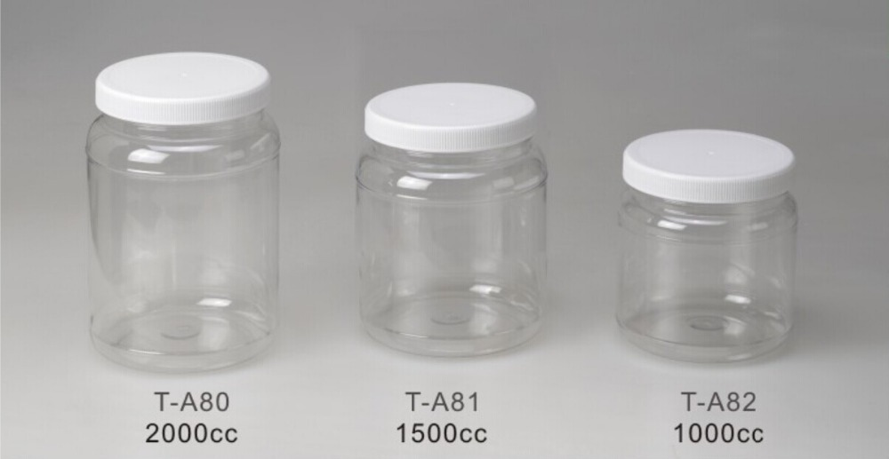1000ml Food Storage Clear PET Plastic Containers Candy Jars Bottle