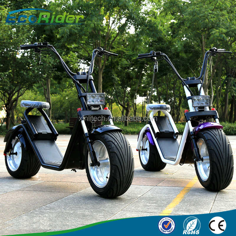 2017 Newest product EcoRider <strong>city</strong> coco electric scooter with double seat