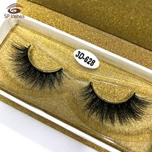 Private label mink lashes clear band 3D Real Mink 100% Real Mink Fur False Eyelashes