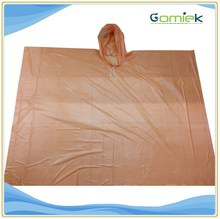 Wholesale Printed Fashion Raincoat Disposable Rain Poncho for biker /hiking /camping