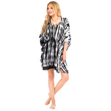 2018 New Fashion Women Pancho Tie Dye V neck designer dress women clothing from indonesia