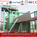 Roller pass through type Vertical sheet Sand blasting cleaning machine