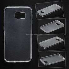 Ultra super Thin Soft Clear silicon TPU phone Case For Samsung S7edge