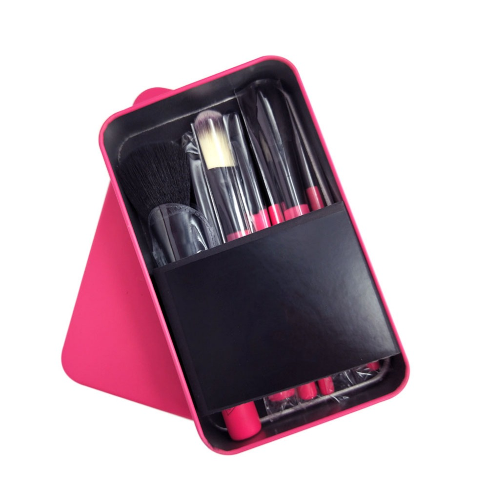Korea hot sale Cosmetic kit 7pcs fashionable makeup brushes set makeup brushes with tin case/box