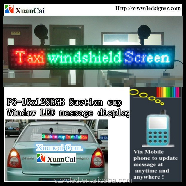 Hot! Short messge SMS wireless communication full color Window advertisement LED running messae display