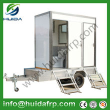 2015 new style outdoor mobile portable temporary toilet with trailer