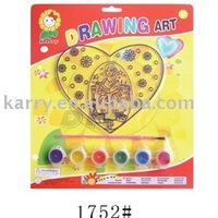 Drawing art suncatcher set (heart-shaped)