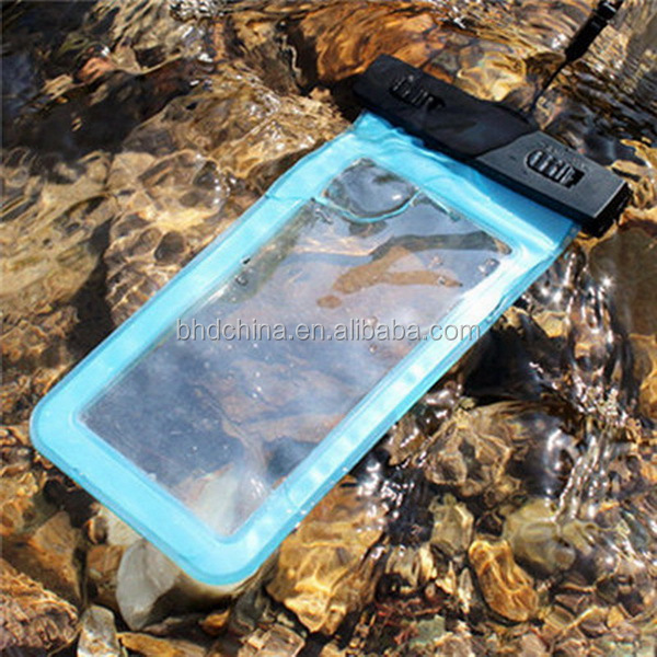 Pvc Waterproof mobile phone Waist Pouch Bag Dry Case Cover For 5.5 inch Phone