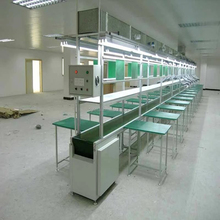 professional iron painted or Aluminum mobile phone assembly line with belt,production line equipment with work table