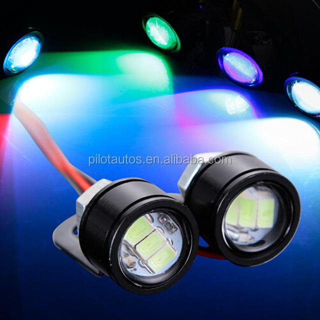 Car LED Screw License Plate Rogue Back Light Daytime Running Light 3M Back Patch Stealth Thin Radar 18MM 23MM Eagle Eye DRL