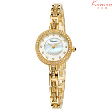 KMO 6109 Crystal Diamond Shell Dial Women Quartz-watch Ultra-thin Bracelet Band Ladies Watches Dazzling Waterproof montre femme