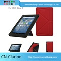 New Popular Smart Cover Leather Laptop Case Tablet Pc Case for fire 7 origami case