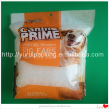 Lovely printing image for pet food packaging with square bottom and zip lock bag