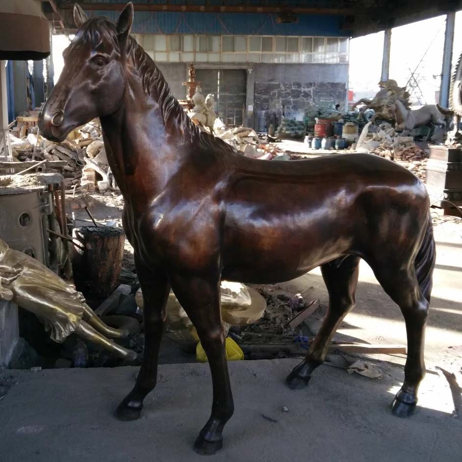 factory life size outdoor bronze animal horse sculpture statue
