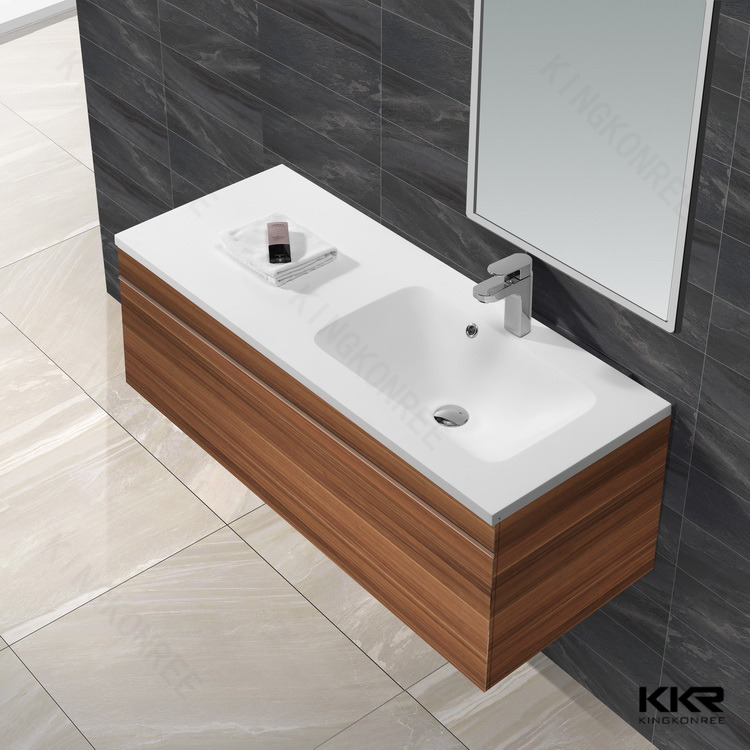 KKR artificial stone bathroom wash basin mirror cabinet
