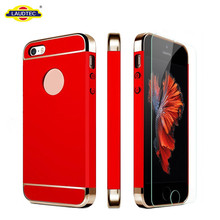3 in 1 hard PC rubber coated cover case for iphone 5 phone case