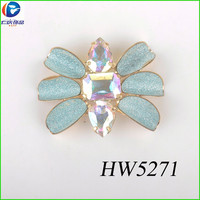 Flower buckle for shoes upper for summer beach wear connect buckle