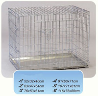 2015 High quality welded wire durable dog cage pet crate with tray