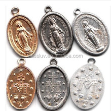customized religious medals Christian Saint religious charms pendants vintage religious charms made in China MISS LUV company