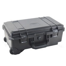 Waterproof lockable tool carrying gun case with handle and foam