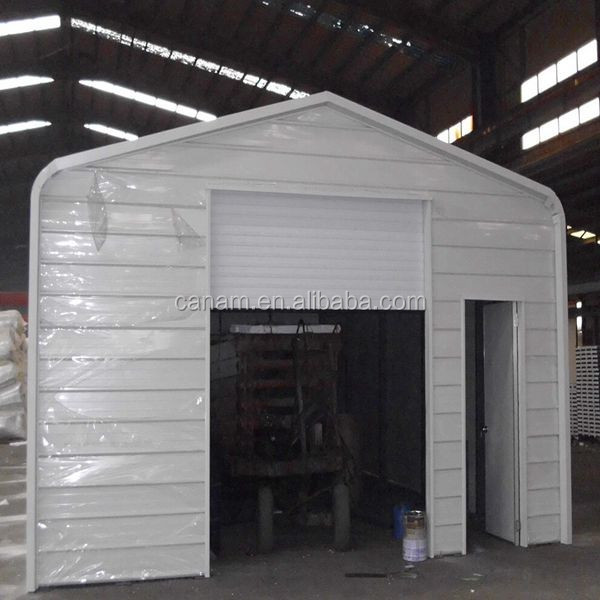 Prefabricated low cost steel structure garage