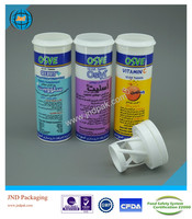 10 effervescent tablet tubes with desiccant cap and unrivalled offset printing made in GMP plant