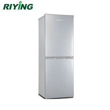 156 Liter Double Door and Bottom Freezer Stainless Steel Household Compressor Refrigerator BCD-156