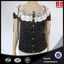Short sleeve ladies modern blouses models fashion