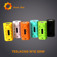 Chargeable ABS Style Electronic Cigarette Teslacigs Wye 200W vape electronic cigarette Russia Tesla Wye 200W