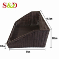 High quality fashionable pe rattan supermarket tray/basket for fruits or vegetable