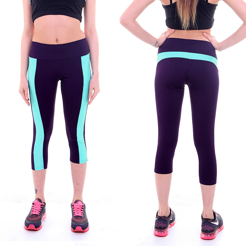 Women Sports Yoga Fitness Capri Leggings Gym 3//4 Pants Cropped Jogging Trousers