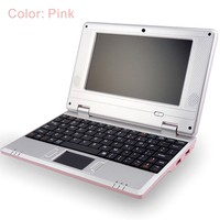 "7"" mini laptop dual core mini notebook VIA8880 wince6.0 andorid4.4 os"