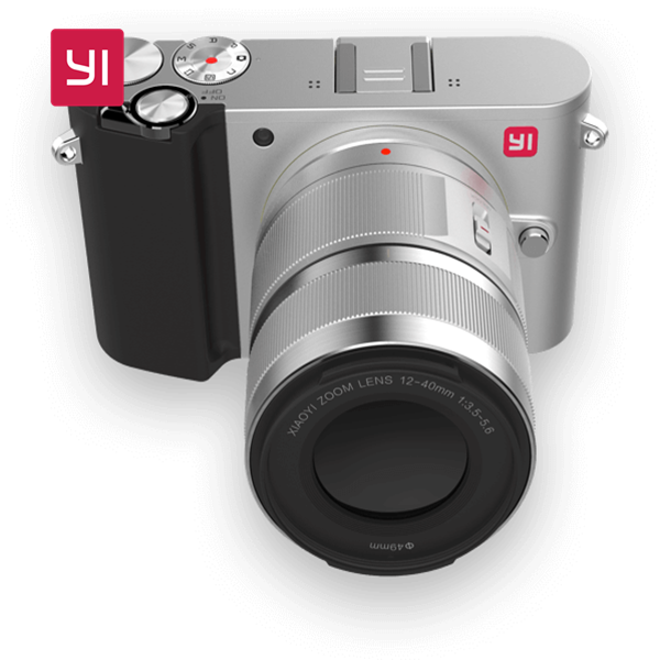 YI M1 Mirrorless Digital Camera with prime lens