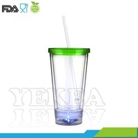 450ml Personalized Logo Flashing Drinking Cup, double wall insulated