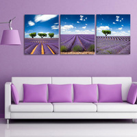 Wall decoration amazing artwork hand painted 3d oil painting on canvas purple lavender no frame Mofang