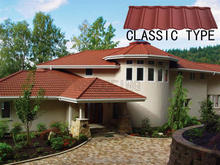 Wholesale classic stone coated steel metal roofing tiles,red color metal roof tile for modern house