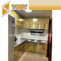 Etched mirror polishing stainless steel sheet for kitchen cabinet