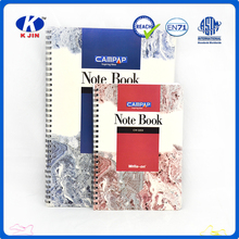 Clear cover custom printed sprial notebook for sale