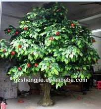 China wholesale professtional factory make high imitated fake decorative ornamental indoor artificial apple fruits tree