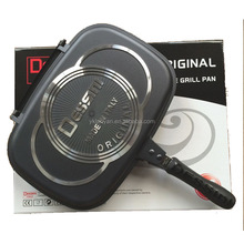 36CM DESSINI DOUBLE GRILL PAN DOUBLE FRY PAN DOUBLE SIDE PAN