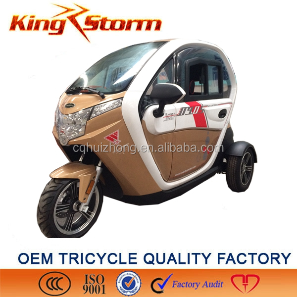 Chongqing motor factory adult electric tricycle/cargo tricycle with cabin electric tricycle