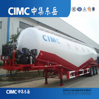 CIMC Pulverized Lime Tri-Axle Used Bulk Cement Transporting Tanker Semi Trailers