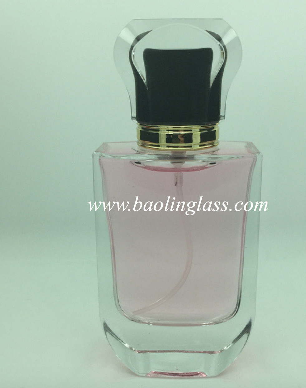 custom logo premium 100ml perfume glass bottle