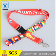 Top quality waterproof custom design hard plastic id card holder lanyard