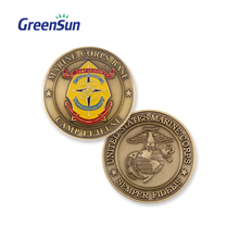Lasest design Custom Production gold plating copper coin