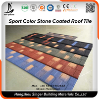 Natural stone coated steel metal roof tiles guangzhou factory price