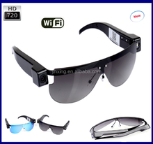 2017 HD 720p h.264 wireless WiFi spy hidden Sunglass camera,wifi spy glasses camera video recording