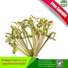 Free Sample More Choice Decorative Bamboo Knotted Skewers