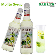 SABLEE mojito flavor syrup for soft drink application with HALAL QS 900ml